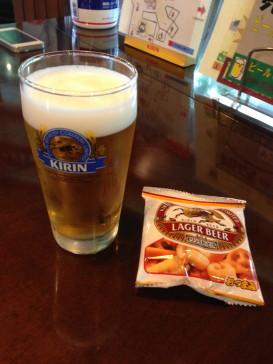 ビール&おつまみ.JPG